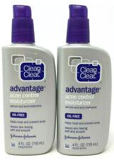 (2) Clean & Clear Advantage Acne Control Moisturizer 4 fl oz Exp: 05/2021