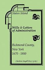 Staten Island Wills and Letters of Administration, Richmond County, New York, 16