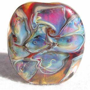 KALEIDOSCOPE EYES Handmade Glass Focal Bead Flaming Fools Lampwork Art Glass SRA