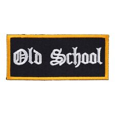 Old School Black & White Patch, Biker Patches