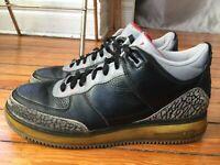 Nike Air Jordan Force Retro III 3 Fusion AJF Black Cement Men 12 323626-061 2008
