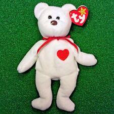1993 Rare Valentino Bear Ty Beanie Baby PVC 3rd Gen Tush Sticker & Error(s) MWMT