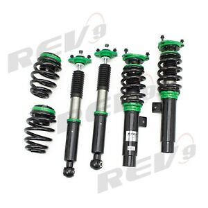 REV9 32 WAYS HYPER-STREET 2 MONO TUBE COILOVER 99-05 BMW E46 RWD 323 325 328 320