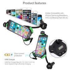 ALLOYSEED Car Mount Holder With 3.1 Amp USB Car Charger FM transmitter