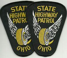 2 x STATE HIGHWAY PATROL  OHIO  POLICE  Staats-Polizei Abzeichen Patch ANGEBOT !