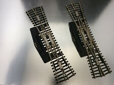 HO ATLAS REMOTE CONTROL NICKEL SILVER SWITCHES DOUBLE SLIP  EXCELLENT