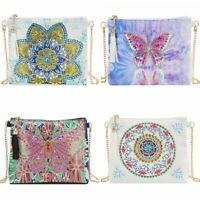 DIY 5D Diamond Painting Crossbody Bag Wallet Special Shaped Clutch Bag Purse New