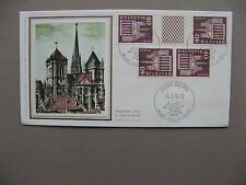 SWITZERLAND, cover FDC 1976, gutterpair + reversed pair 40Rp from bookletsheet