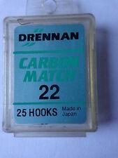 Drennan Carbon Match size 22 box of 25 spade end