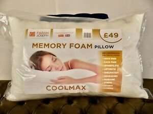 COOL MAX Memory Foam Pillows x 2 - Priced Reduced