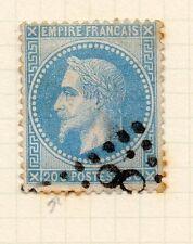 Francia 1862 Clásico Napoleón cuestión utilizado 20c. + Inferior Tablet defecto de la placa 146464