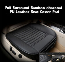 Bamboo Charcoal PU Leather Car Seats Protect Mat Cover Breathable Cushion Pad