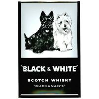 Black /& White Scotch Whisky con pub FRIDGE MAGNET Scotty Perros.