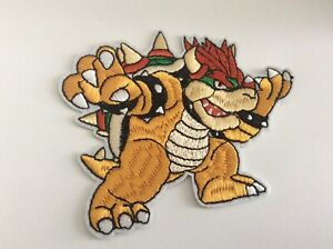 "4"" Nintendo Super Mario Bowser DIY Iron On Embroidered Applique Patch"