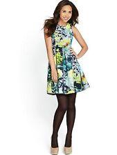 Myleene Klass Dandelion Imprimé Robe Patineuse Taille UK 14