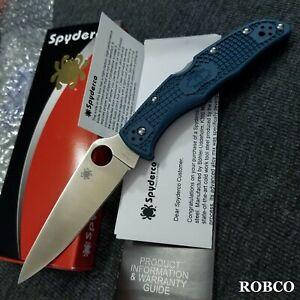 Spyderco Endura 4 K390 Microclean Steel Satin Blade Blue FRN Handles C10FPK390