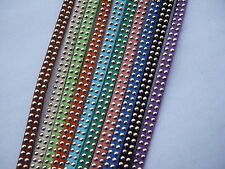 10pcs/10M Mixed 5mm Flat Suede Leather Cord With Dot Decoration Jewelry Craft ML