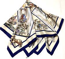"Authentic Hermes Paris, silk scar, New+Box+Ribbon,"" VOYAGE en RUSSIE"", Dubigeon"