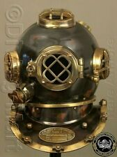 Vintage Boston London Navy Mark V Copper Diving Divers Helmet Scuba Deep Sea Sca