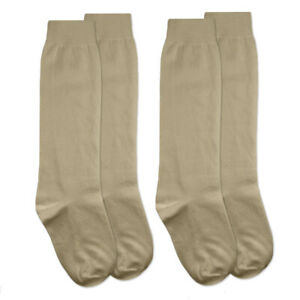 Jefferies Socks Womens Cotton Knee High School Girl Long Tall Socks 2 Pair Pack