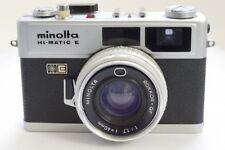 Minolta Hi-matic e 35 mm telémetro Película Cámara Con Lente 40 mm f1.7 Rokkor Qf
