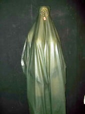 feine, dünne Burka,Latexburka,Gummikleid,Gummiburka,Regenumhang,160 lang