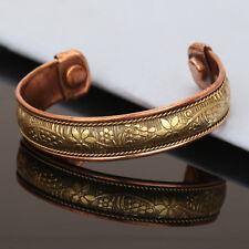 Bracelet Women'S Cuff Link Copper Bio Magnetic Pain Healing Therapy Bangle