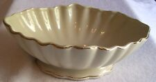 """Teleflora Bowl 8.75"""" X 6.25"""" X 2.75 """" Tall With Gold Trim. With Many Uses"""