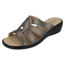 Sandalias y chanclas de mujer gris sintético, Talla 38