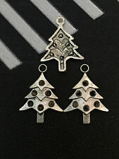 PJ230 /20pcs Tibetan Silver Charms  Christmas tree Accessories Wholesale