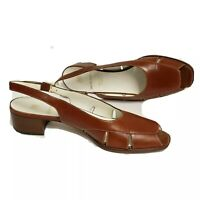 Bruno Magli size 8 AAAA Leather Adjustable Strap Sandals Shoes brown