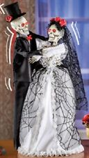 """Animated Dancing Bride and Groom Skeletons Lighted Dance and Laugh 19"""" New"""