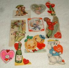Vintage Valentine 10 Cards Hearts Boy Soda Bottle & More Used