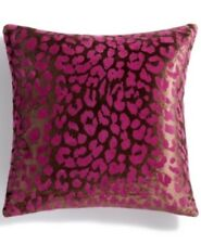 Holiday Lane Christmas Home Decor - Purple Leopard Pattern Throw Pillow #C439