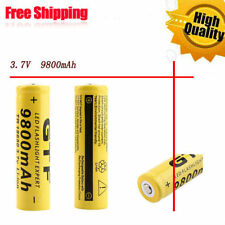 2016 1pc 3.7V 18650 9800mAh Li-ion Rechargeable Battery For Flashlight Torch