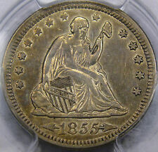 "1855 ""Arrows"" Seated Liberty Quarter Dollar PCGS Choice AU-50... Flashy & NICE!!"