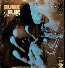 LITTLE SONNY BLACK & BLUE LP 1971 SHRINK RARE ELEC BLUES SOUL BAR-KAYS NM!!