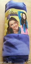 Hannah Montana Disney fleece blanket - 120cm x 150 cm, purple, brand new