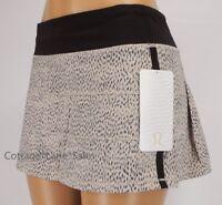 NEW LULULEMON Pace Rival Skirt Reg 2 4 6 10 12 Dottie Dash Grain Black Run Golf