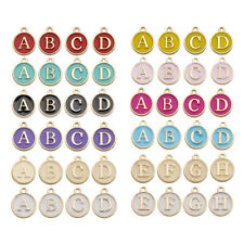 26Pcs Letter Charms Enamel Alphabet Pendant Initial A-Z 2 Sided Jewellery Making