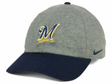 fe6bebe2 Milwaukee Brewers Nike MLB 2 Tone Heather Cap Hat Adjustable Strapback  Heritage
