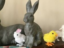 Pottery Barn Essex Bunny Sitting l Figure Easter Centerpiece NEW