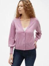 Gap Women's NWT Balloon Sleeve Cardigan Sweater in Merino Wool Size XL TAll
