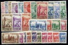 COTE D IVOIRE 1936 Yvert 109-123,125-132 * TEILSATZ 28 WERTE (F3568