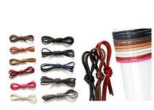 Waxed Cotton Round Shoe laces Leather Waterproof  0.35cm x 60cm ShoeLaces