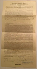 1959 Montreal Alouettes CFL Canadian Football Signed Contract By M.E. Workman