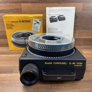 Kodak S-AV1030 Carousel 35mm Slide Projector & Cartridge + Manual Tested Working