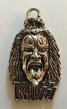 KISS GENE SIMMONS HEAD CHARM METAL SILVER PLATED ANTIQUED