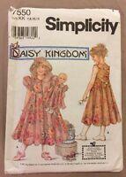 Simplicity 7550 - Size KK 7,8,10,12 Daisy Kingdom