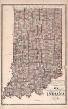 1880 Steuben County Indiana plat map old Genealogy history Atlas Land P73